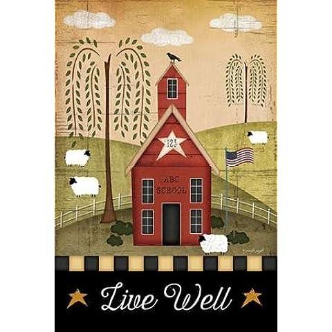 Feeling at home, Stampa artistica x cornice - quadro, fine art print, Primitive vivere bene cm 94x64
