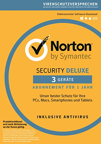 Norton Security Deluxe 2019 3 Geräte 1 Jahr Windows/Mac/Android/iOS Download
