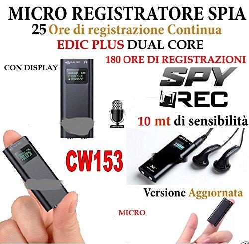 MICRO REGISTRATORE AUDIO VOCALE 8 GB SPY SPIA MINI AMBIENTALE USB