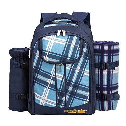 apollo walker APOLLOWALKER Picknickrucksack für 4 Personen mit Fleece-Decke und Kühlfach
