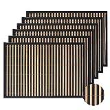 Lovecasa 12 teilig Platzset, Bambus Tischmatte, 45 x 30 cm, Tischset für 12 Personen
