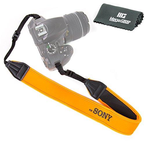 MegaGear Ultraleichte Neopren Schulter Schulterriemen für Sony DSLR SLR (orange) [Kamera]