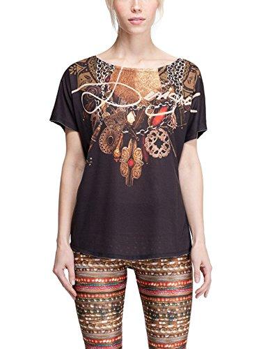 Desigual donna lavorato a maglia a maniche corte T-Shirt TS L T-S G, nero, S, 67T2SE6