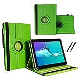 Tablet 10.1 Zoll Hülle für Jay-tech TXE10DW2 Schutzhülle Etui Case mit Touch Pen & Standfunktion - Grün 360