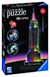 Ravensburger 12566 - Empire State Building bei Nacht - Night Edition 3D Puzzle Bauwerke, 216 Teile Puzzle