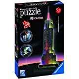 Ravensburger - 12566 - Puzzle 3D Building - 216 Pièces - Empire State Building - Night