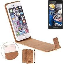 Caso de corcho cubierta del tirón para Fairphone Fairphone 2, marrón. cáscara protectora caja case cover - K-S-Trade (TM)