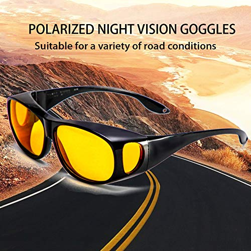 TankMR Unisex Auto Car Night Driving Polarized Eyeglasses Gafas de sol Eyewear Accesorio Negro