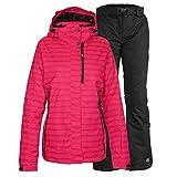 Killtec Skianzug Damen Gr. 38 Funktionsjacke Malaya Pink + Skihose Liska Schwarz