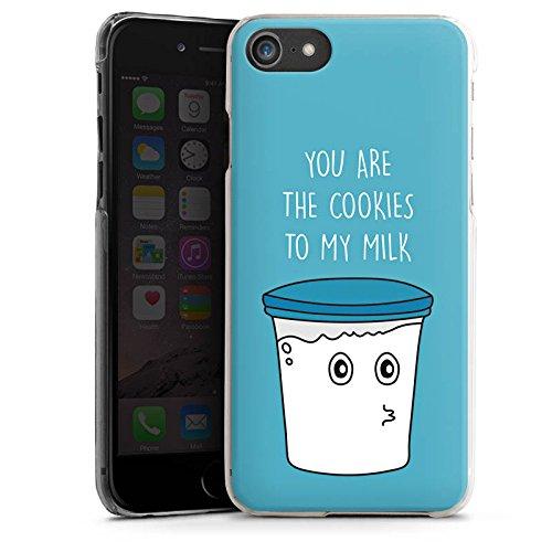 Apple iPhone X Silikon Hülle Case Schutzhülle Sprüche Milk & Cookies Blau Hard Case transparent