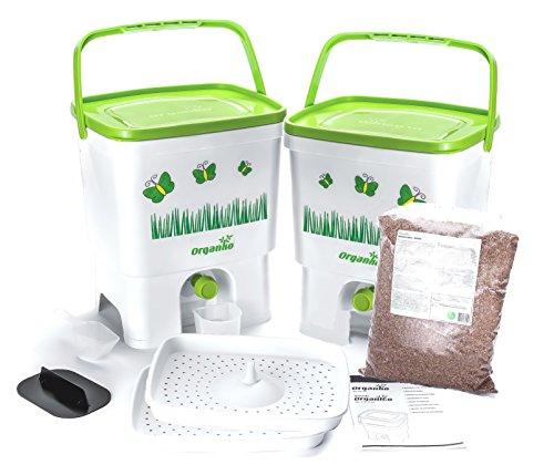 Set Bokashi organique avec terreau naturel pour la séparation des déchets organiques
