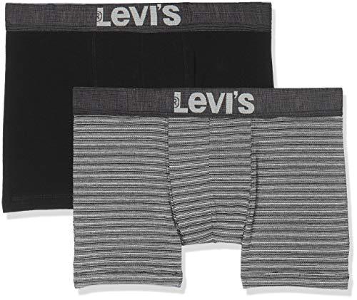 Levi's Herren 200SF Levis The Classic Boxer Brief 2P Boxershorts, Schwarz (Caviar 703), Large (erPack 2) - Levi ' Classic Shorts