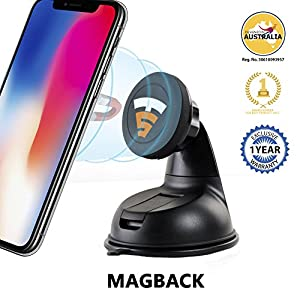 Tech Sense Lab Magback Pro Magnetic Car Phone Mount Holder with 360 Degree Rotation for Dashboard/Windshield, iphone…
