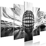 murando - Bilder 3D Effekt 200x100 cm - Vlies Leinwandbild - 5 Teilig - Kunstdruck - Modern - Wandbilder XXL - Wanddekoration - Design - Wand Bild - Abstrakt a-A-0361-b-n