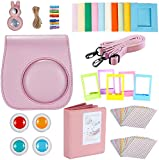 Neewer® 9 in 1 Camera Bundles Set for Fujifilm Instax Mini 8/8s/8+/9, Include Album/Selfie Lens/Colored Filters/Wall Hang Frames/Film Frames/Border Stickers/Camera Case (Pink).
