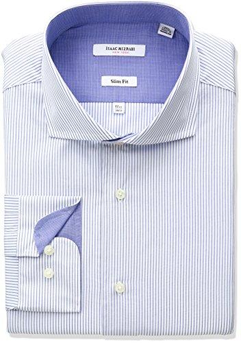 isaac-mizrahi-mens-slim-fit-pencil-stripe-cut-away-collar-dress-shirt-blue-165-neck-34-35-sleeve