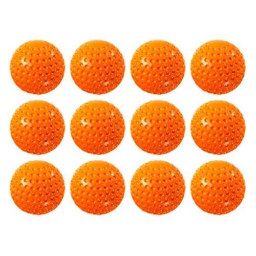 Hit Zone One Dutzend orange Kunststoff oberflächlichen Training Bälle für Verwendung mit JR Air Powered Batting Tee