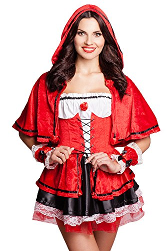 fasching rotkaeppchen Rotkäppchen Kostüm Faschingskostüm Fasching Karneval Kostümparty Halloween Größen S-L (S)