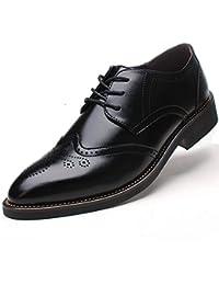 Rismart Hombre Negocio Vestir Espacio de trabajo Cuero Partido Oxfords Zapatos 856