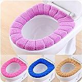 Queta Funda para Asiento de Inodoro, Suave y Gruesa, elástica, Lavable, para Asiento de Inodoro (Color al Azar)