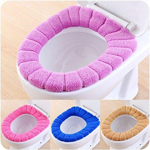 Outtybrave tappetino per il bagno caldo morbido coprisedile wc comodo shaped lavabile cuscino pad colore casuale