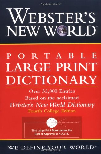 Webster's New World Portable Large Print Dictionary, Second Edition (Websters Wörterbuch Großdruck)