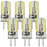 MENGS® 6 Stück GY6.35 4W LED Lampe 72x3014 SMD AC/DC 12V Warmweiß 3000K Mit Silikon Mantel