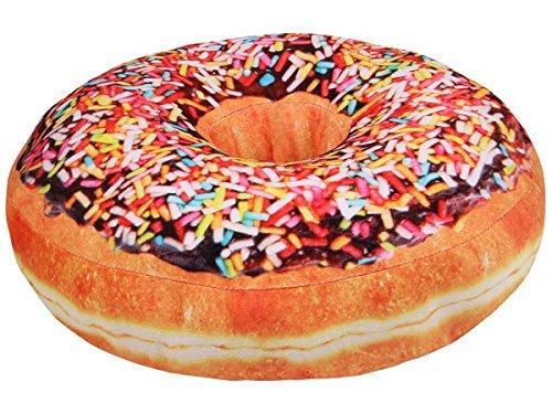 Donut 3D Kissen 36cm 12 Design Plüschkissen Velboa-Microvelour (D05)