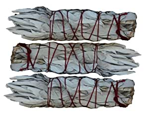 "SK White Sage Mini Smudging Stick - Three Pack (4""- 5"")"