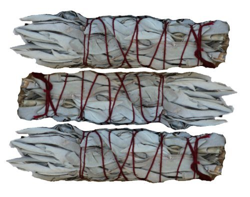 SK White Sage Mini Smudging Stick - Three Pack (4\