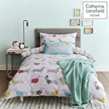 Catherine Lansfield Silly Sausage Dog Easy Care Single Duvet Set Multi