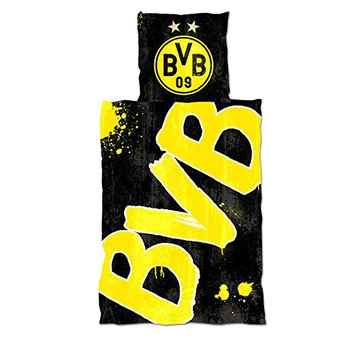 Borussia Dortmund BVB-Bettwäsche Glow in The Dark (135x200cm) (Glow The In Fussball Dark)
