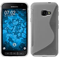 PhoneNatic Case für Samsung Galaxy Xcover 4 Hülle Silikon clear S-Style + 2 Schutzfolien