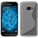 PhoneNatic Case für Samsung Galaxy Xcover 4 Hülle Silikon Clear, S-Style + 2 Schutzfolien