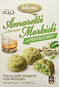 FALCONE Amaretti Macarons aux Amandes/Pistaches 170 g - Lot de 4