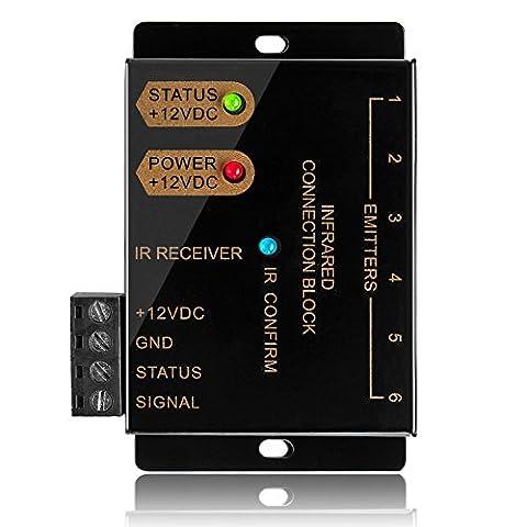 TNP IR Repeater Extender Infrarot Fernbedienung verstecktem System Kit–Infrarot-IR-Emitter Blaster Verteilung Verlängerung & Empfänger Kabel für Box Home Theater AV Component Equipment HDTV