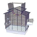 Cage à OISEAUX/PERRUCHES/CANARIS, taille XXL, avec terrasse & accessoires