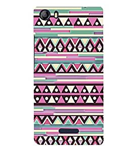 Fiobs Designer Back Case Cover for Micromax Canvas 5 E481 (Snakes Colorful Design Pattern Triangles)