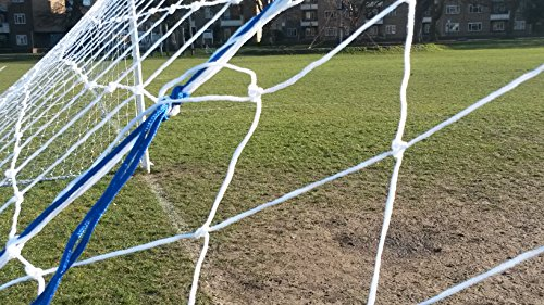 Football net with FREE Carry Bag   Full Size - 24  x 8  Match standard  Heavy Duty 3mm Gauge