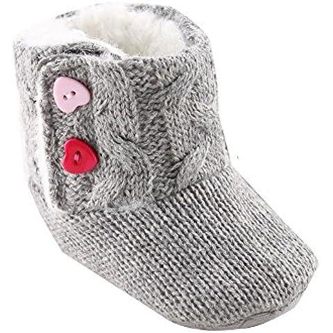 Scarpe casual Kingko® Neonate inverno morbido Sole Presepe Button caldo