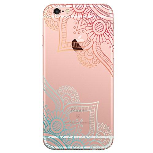 iPhone 6 Plus Hülle (5.5 Zoll), Mania Series Transparent Weiche Silikon Malerei Muster Hülle [Crystal Klar] TPU Bumper Case Blühende Blumen Design Schutzhülle für iPhone 6s Plus 5