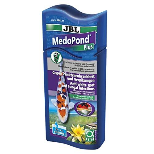 JBL 27145 Heilmittel gegen Pünktchenkrankheit und Verpilzung bei Teichfischen, MedoPond Plus, 500 ml