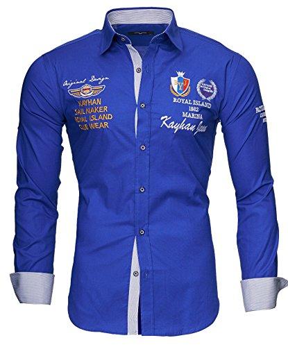 Kayhan Herren Hemd Monaco Blau (XXL)