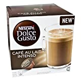 Nescafé Dolce Gusto Café au lait Intenso, Kaffee, Milchkaffee, Kaffeekapsel, 16 Kapseln