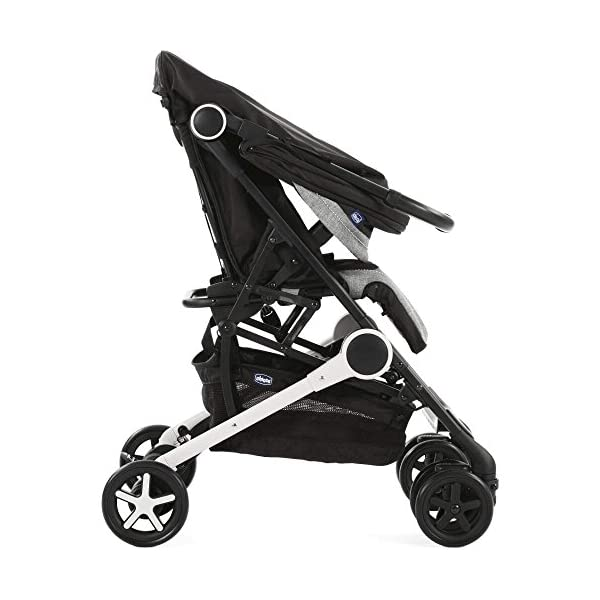 Chicco Minimo Stroller With Bumper Bar - Black Knight Chicco - BabySecurity Suitable from birth to 15kg Lightweight- only 5.8kg! One hand folding system 3