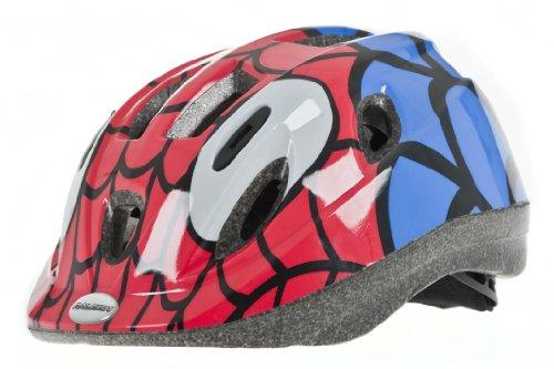 Raleigh Boy's Mystery Spiderman Cycle Helmet - Red/Blue, 52-56 cm