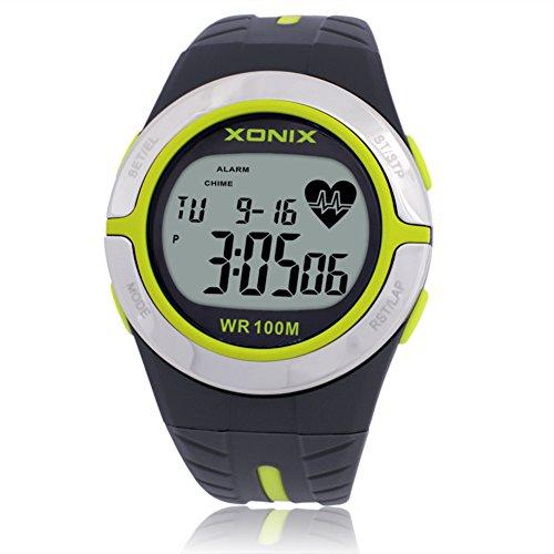 LE Armbanduhren Männer u. Frauen-/Sport-Digitaluhr, Wasserdicht/Chronograph-Stoppuhr-/Kalorien-Test-Impuls-Herzfrequenz-Test Keine Brustgurtherzfrequenz,B