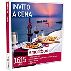 Idea Regalo - smartbox - Cofanetto Regalo - INVITO A Cena - 1615 gustose cene