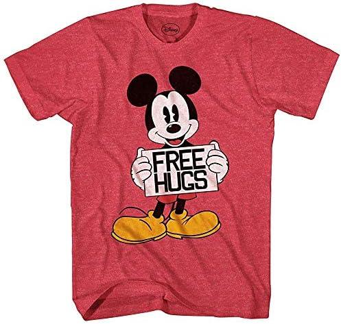 Mickey Mouse Mouse Mouse Hugs Disneyland World Funny Humor Pun Mens Adult Graphic Tee T-Shirt (Heather rosso, Small) | Ottima classificazione  | bello  | Promozioni speciali alla fine dell'anno  | Fornitura sufficiente  9036f7