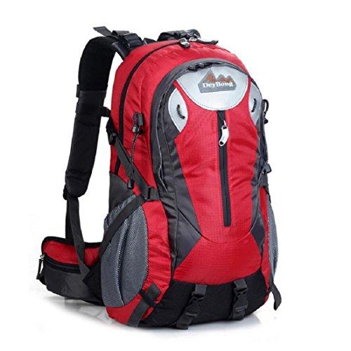 Z&N Backpack 25-30L Hochwertige Wasserdichte Nylon Outdoor Bergsteigen Tasche Unisex Sport Wanderung Urlaub Picknick Party Tasche Verstellbare Gurt Anti-Riss Rucksack Daypacks B